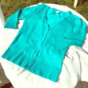 14th&Union Cardigan in Teal-size small